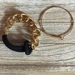 NWOT MARINE AND GOLD GUESS BRACELETS SET
